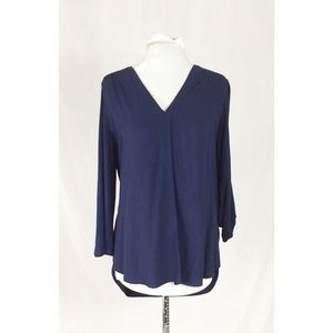 Pleione Navy Blue Blouse Small